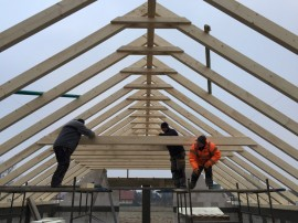 roof construction - KVH wood
